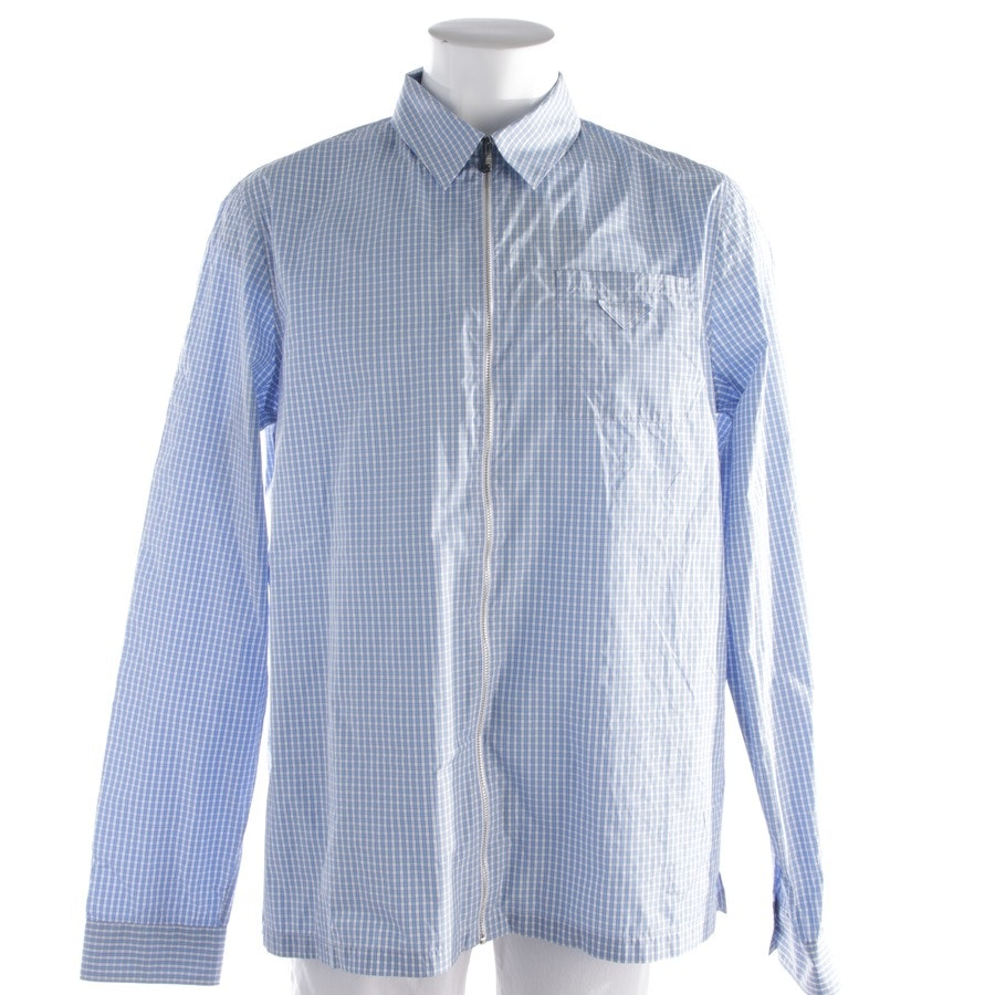 casual shirt from Prada in Lightblue and White size XL