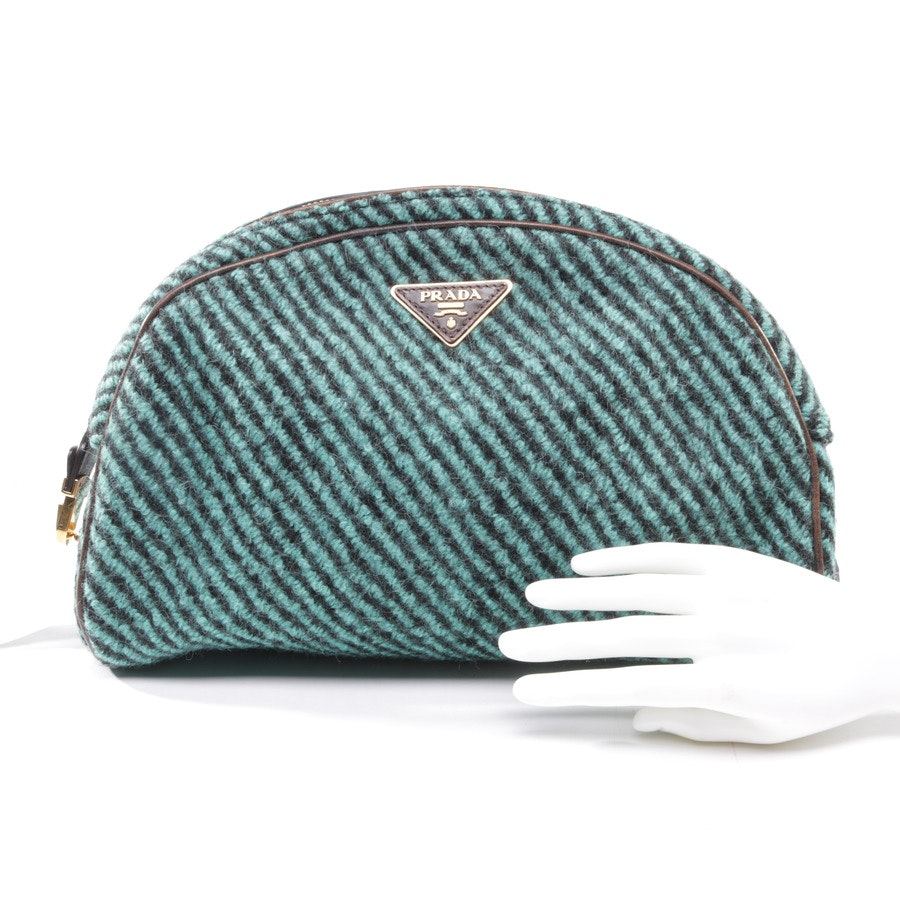Clutch from Prada in Turquoise and Black