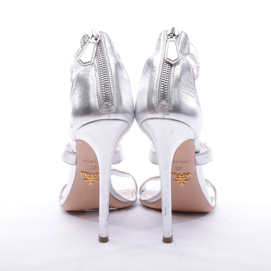 Heeled Sandals from Prada in Silver size 37 EUR