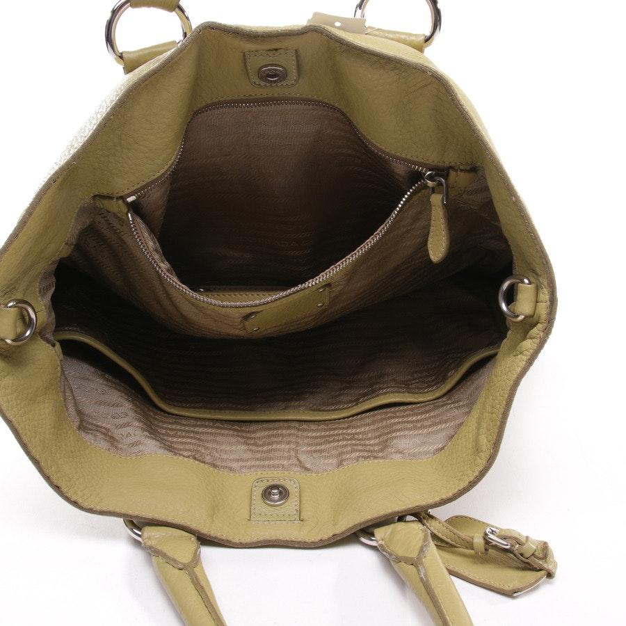 Handbag from Prada in Greenyellow