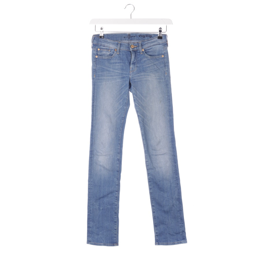 Jeans von 7 for all mankind in Stahlblau Gr. W26