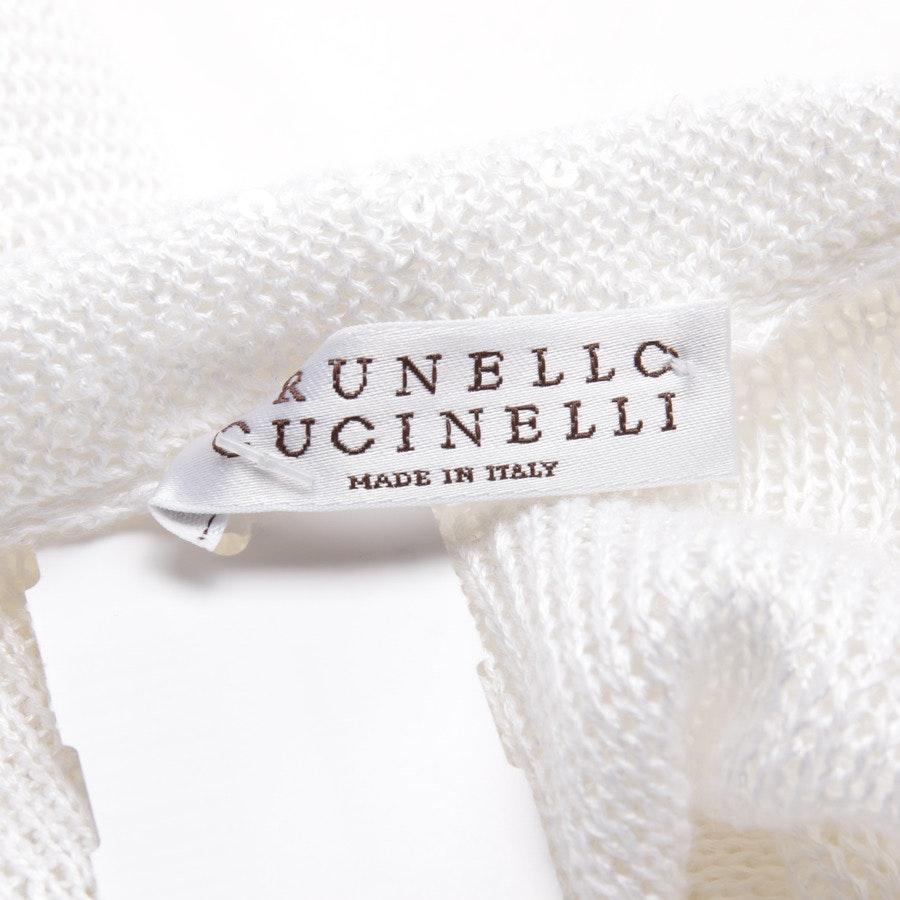 Strickjacke von Brunello Cucinelli in Weiß Gr. L Neu