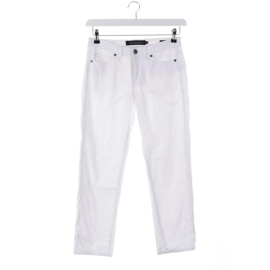 Jeans von Calvin Klein in Weiß Gr. 32 US 2 - Skinny Crop