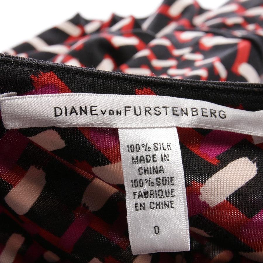 Seidenkleid von Diane von Furstenberg in Multicolor Gr. DE 30 US 0