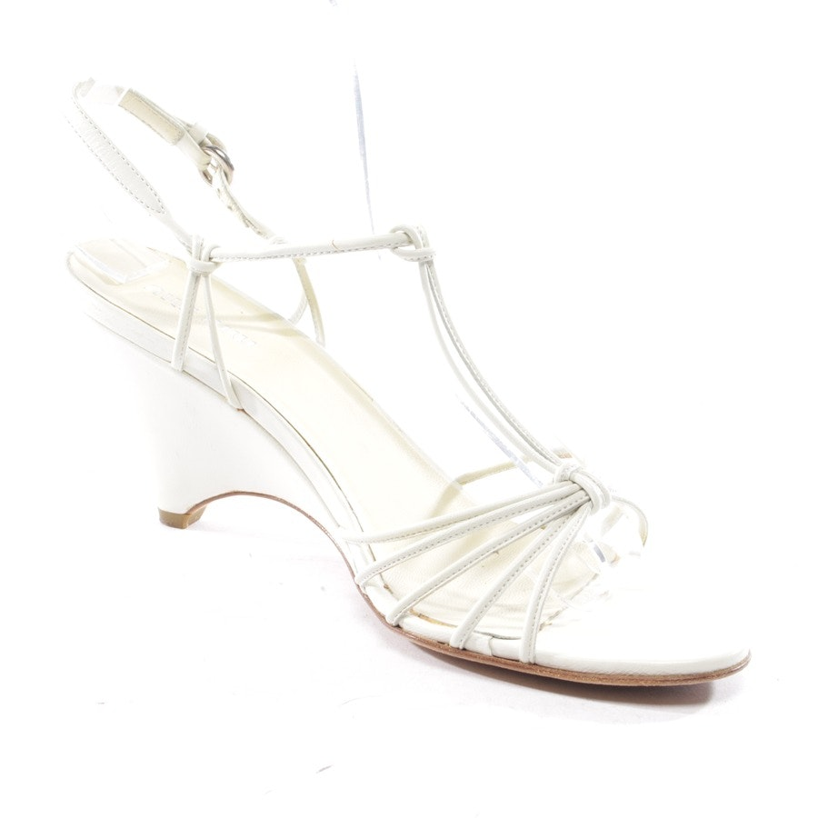 heeled sandals from Miu Miu in white size D 37,5