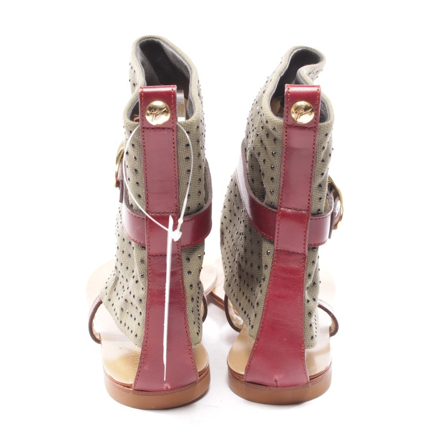 flat sandals from Giuseppe Zanotti in bordeaux and green size D 37