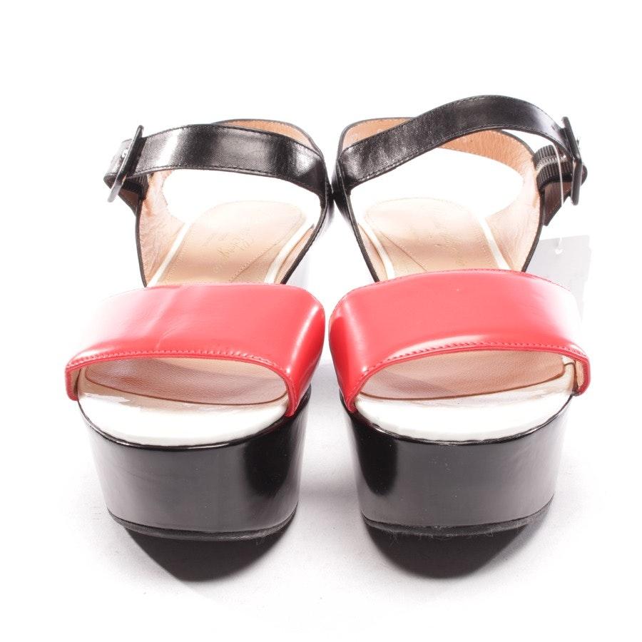 Sandaletten von Robert Clergerie in Schwarz und Rot Gr. D 37 - NEU