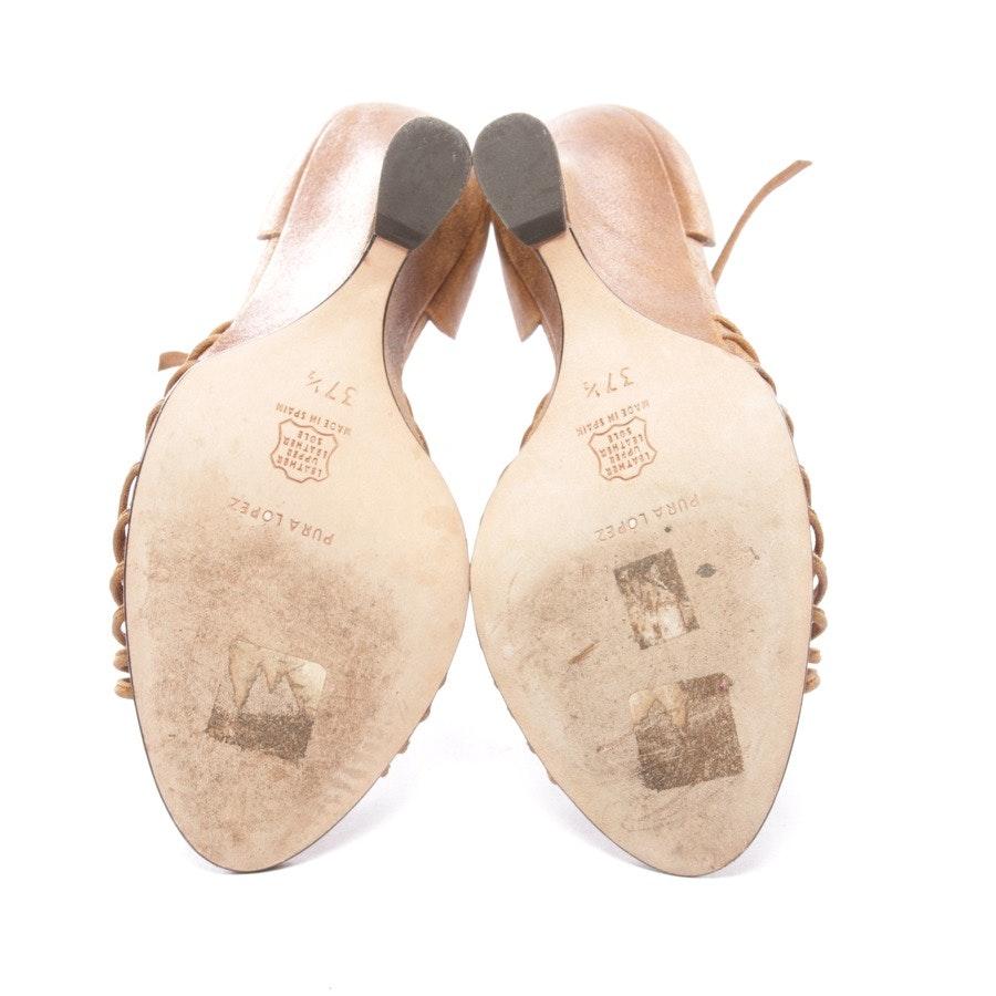Sandaletten von Pura López in Bronze und Braun Gr. D 37,5
