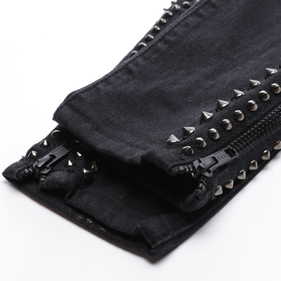 Jeans von Current/Elliott in Dunkelgrau Gr. W27 - The Zip Stiletto