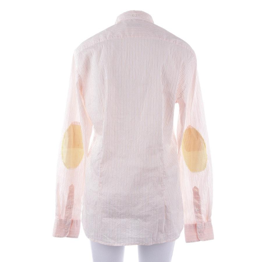 shirts from Aglini in white and orange size DE 36/1