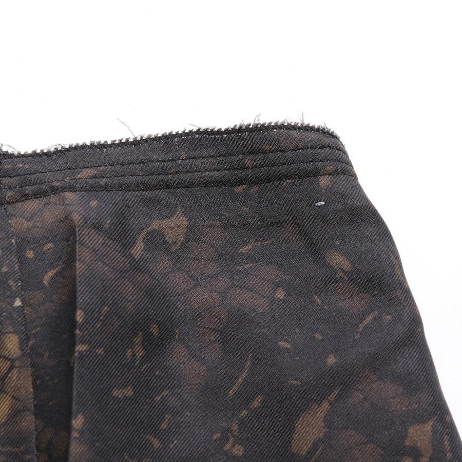 Seidenrock von Prada in Braun und Beige Gr. 32