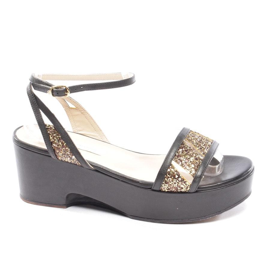 Sandaletten von L'autre chose in Schwarz und Gold Gr. D 38