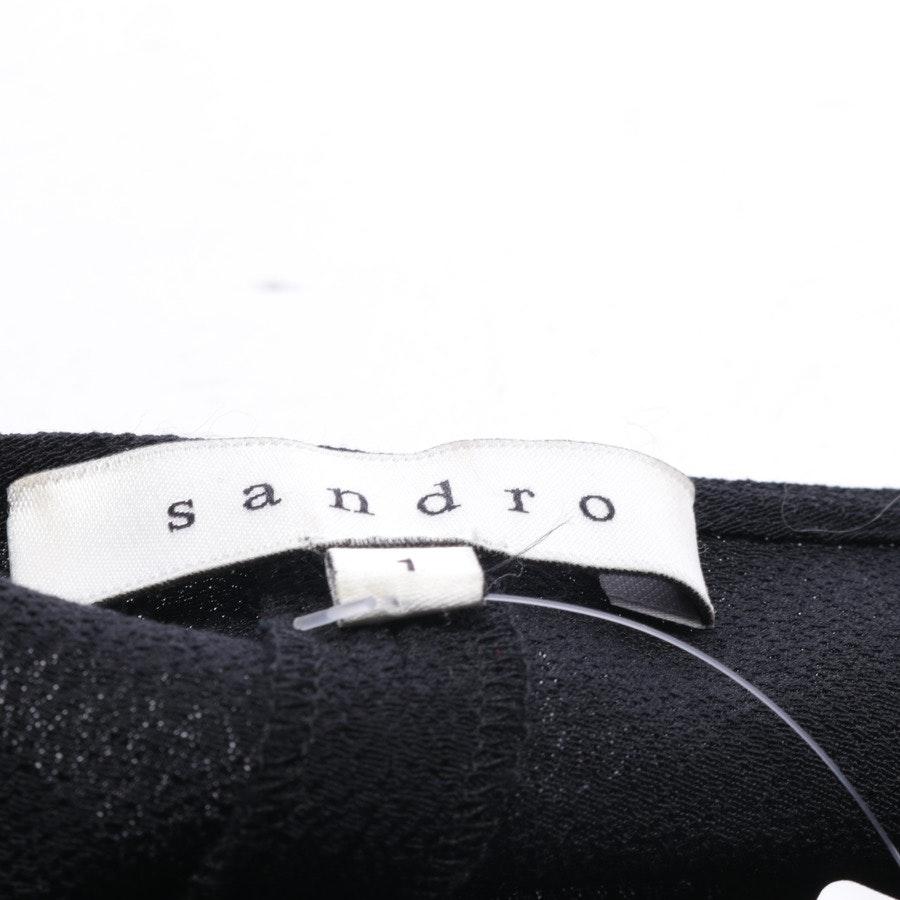 Kleid von Sandro in Schwarz und Silber Gr. 34 / 1