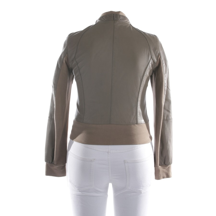 leather jacket from ARMA in beige size 40 FR 42