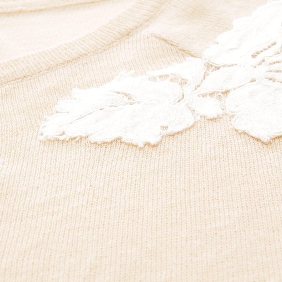 Strickjacke von Twin Set in Sand und Weiß Gr. S