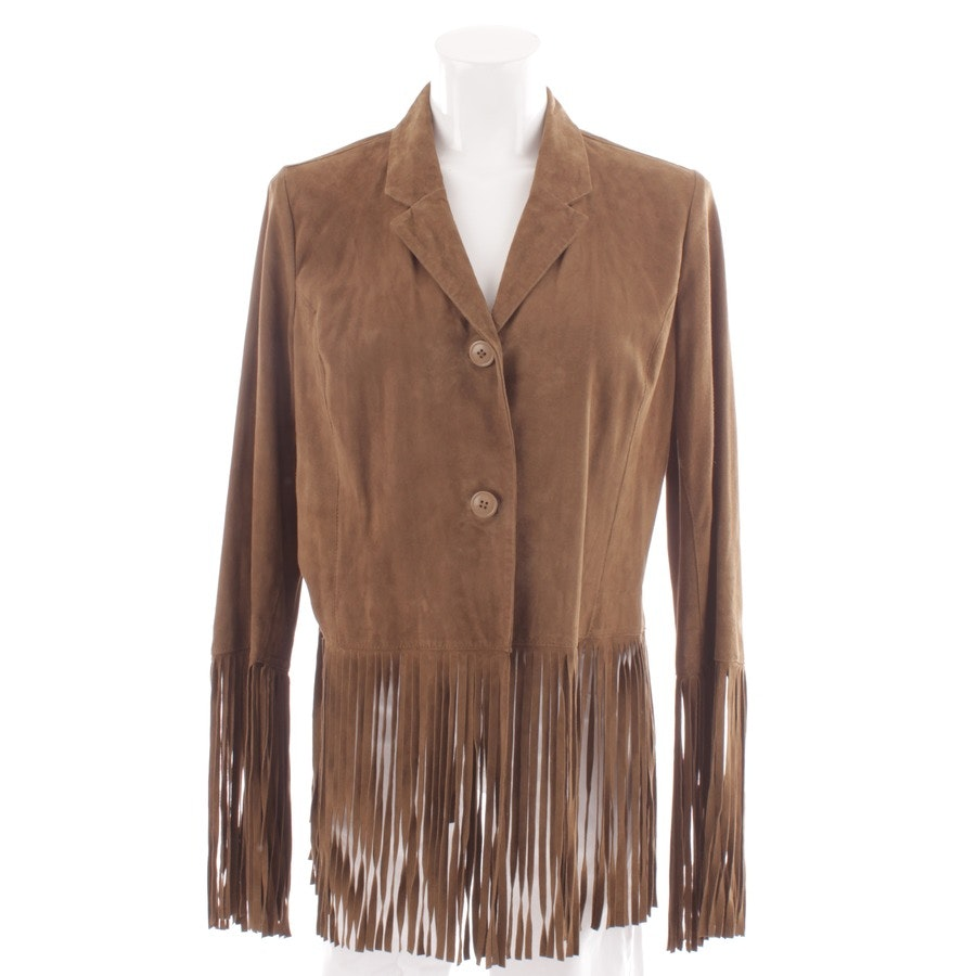 leather jacket from Witty Knitters in brown size XL
