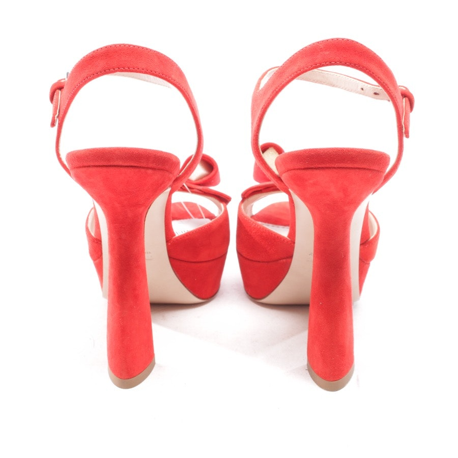 heeled sandals from Miu Miu in red size D 36