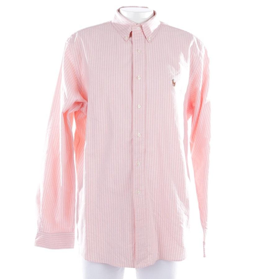 Hemd von Polo Ralph Lauren in Lachsrosa und Weiß Gr. XL