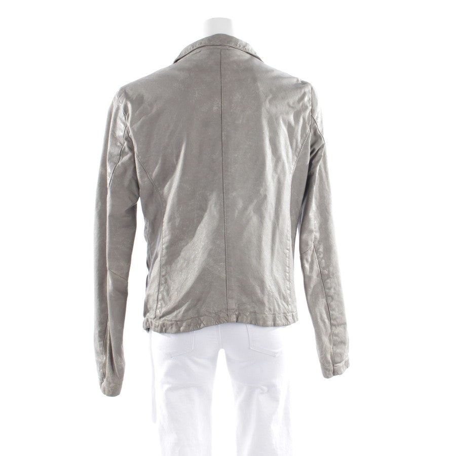 leather jacket from Giorgio Brato in beige-grey size 40 IT 46
