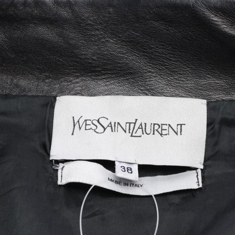 Lederjacke von Yves Saint Laurent in Dunkelbraun Gr. 36 FR 38