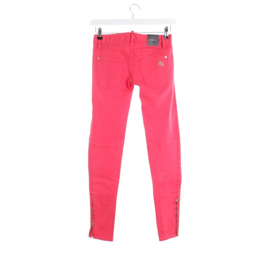 Jeans von Dsquared in Himbeerrot Gr. 30 IT 36 - Neu
