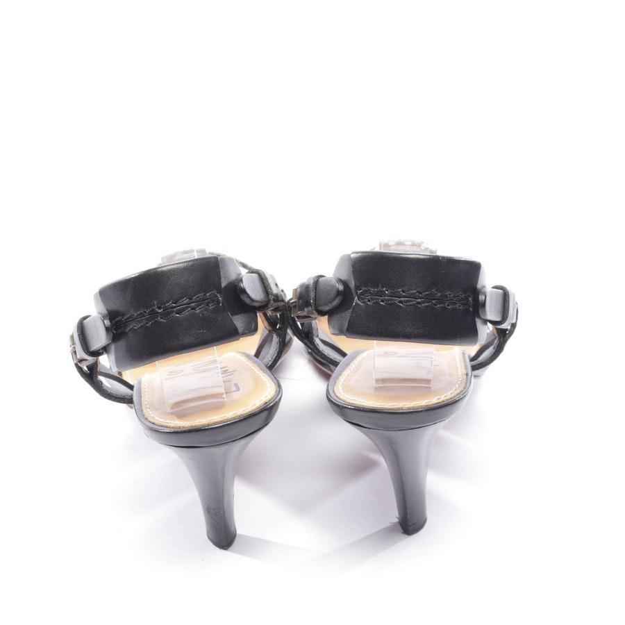 Sandaletten von Lanvin in Schwarz und Blau Gr. D 36