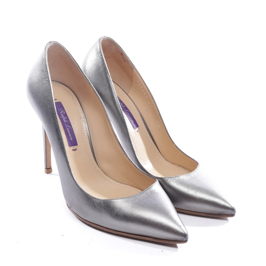 Pumps von Ralph Lauren Purple Label in Dunkelgrau Gr. D 36