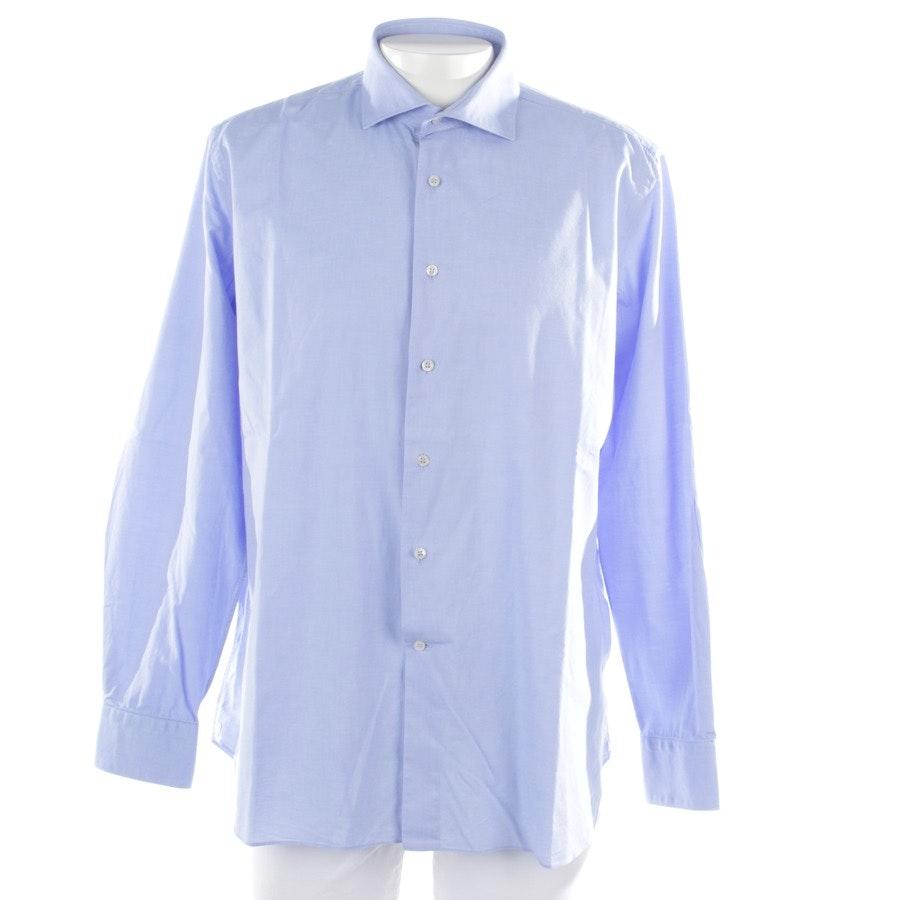 Freizeithemd von Ungaro in Blau Gr. 45-46