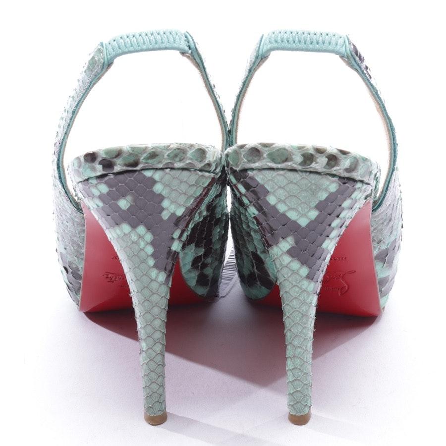Sandaletten von Christian Louboutin in Grün Gr. D 36,5
