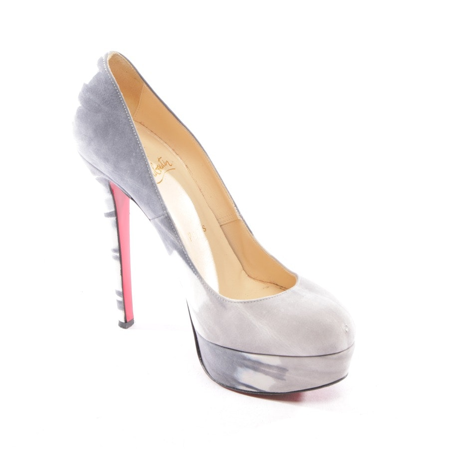 Pumps von Christian Louboutin in Graublau Gr. D 36