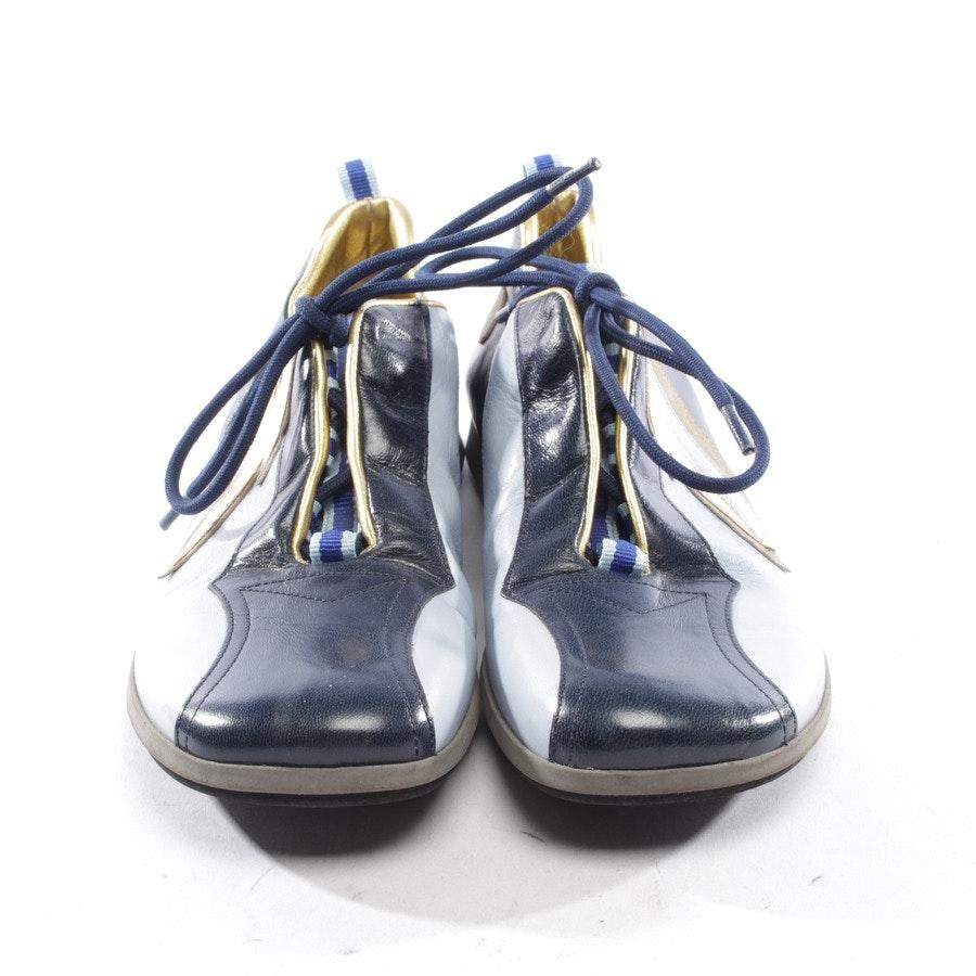 Sneaker von Miu Miu in Blau und Gold Gr. D 37,5