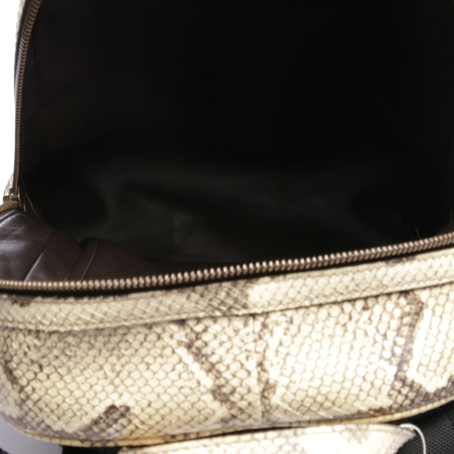 backpack from Gucci in offwhite and grey - off-white python animalier vintage web as new