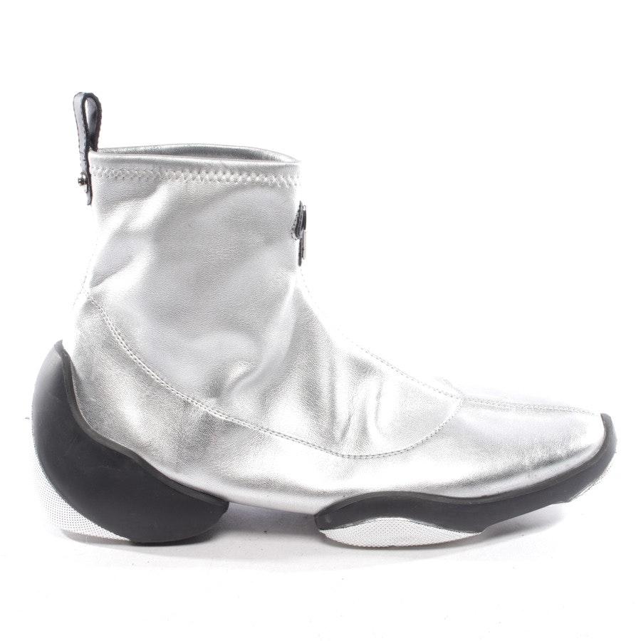 High-Top Sneaker von Giuseppe Zanotti in Silber Gr. D 40