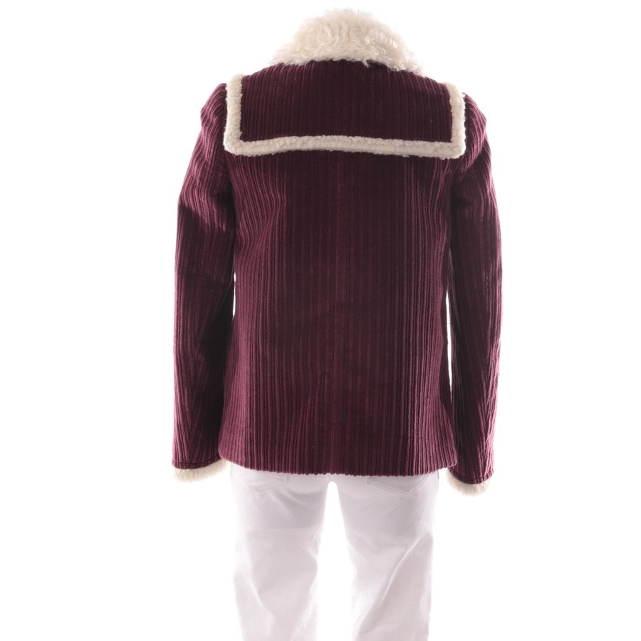 winter coat from Miu Miu in plum and white size 32 IT 38