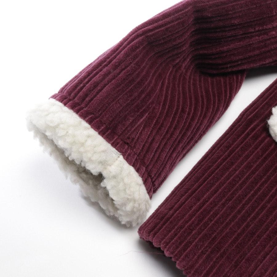Winterjacke von Miu Miu in Pflaume und Weiß Gr. 32 IT 38