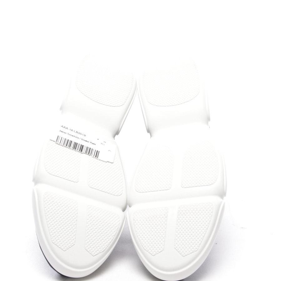 High-Top Sneaker von Prada in Dunkelblau und Weiß Gr. D 41,5 - Neu