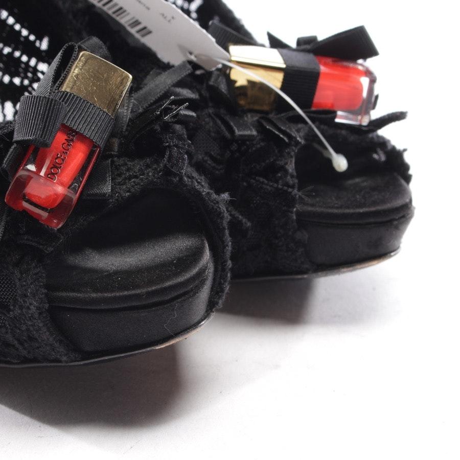 Peeptoes von Dolce & Gabbana in Schwarz Gr. D 36