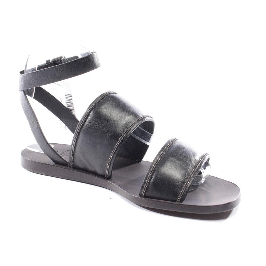 Sandalen von Brunello Cucinelli in Schwarz Gr. D 37 - MZSEC1449 - NEU