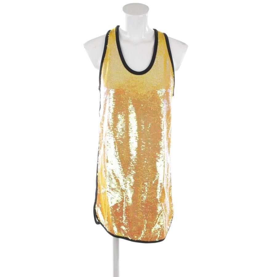 Paillettenkleid von MSGM in Gelb und Weiß Gr. 36 IT 42