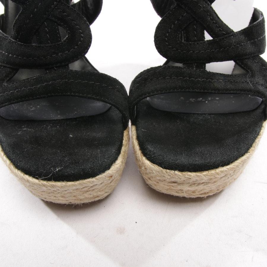 Sandaletten von Yves Saint Laurent in Schwarz und Beige Gr. D 36,5