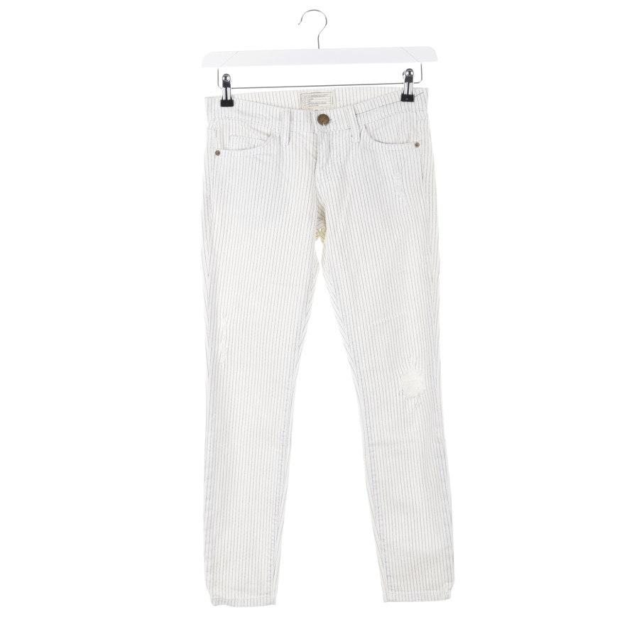 Jeans von Current/Elliott in Creme und Blau Gr. W24 - The Stiletto